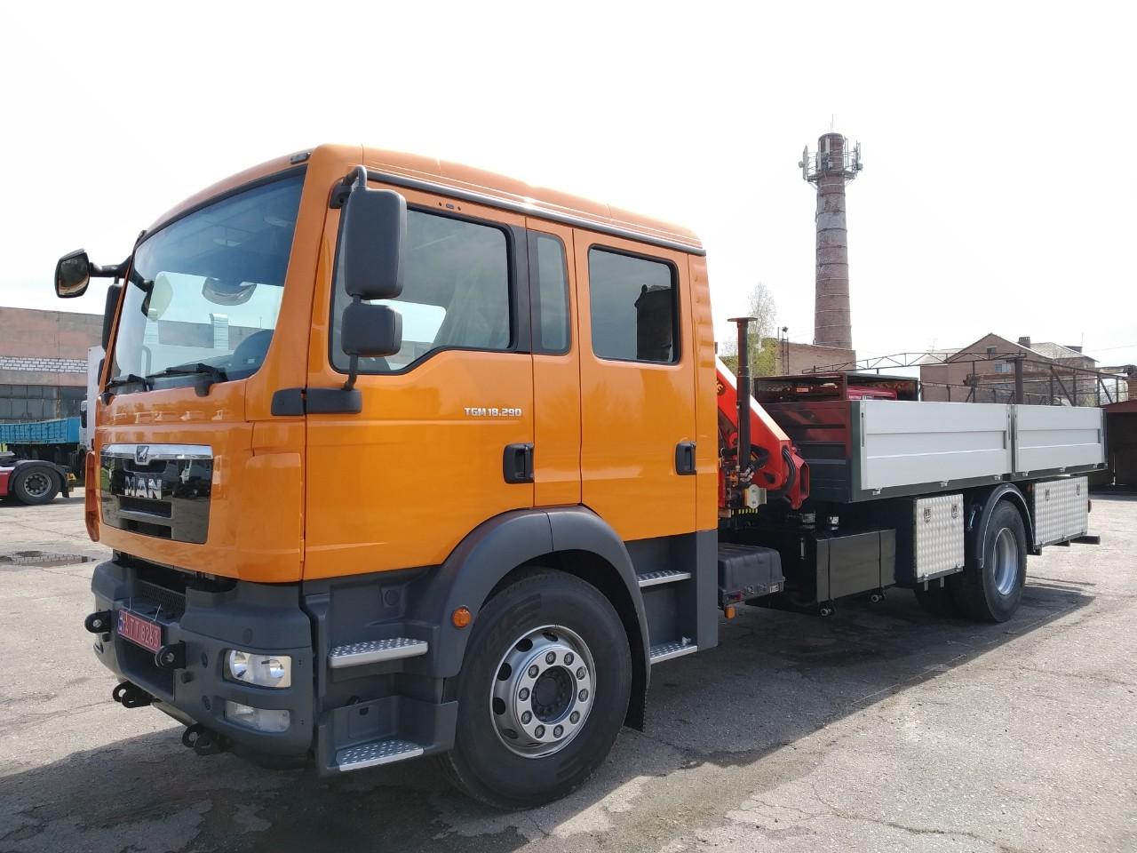 Бортовые автомобили MAN заказать в Киеве