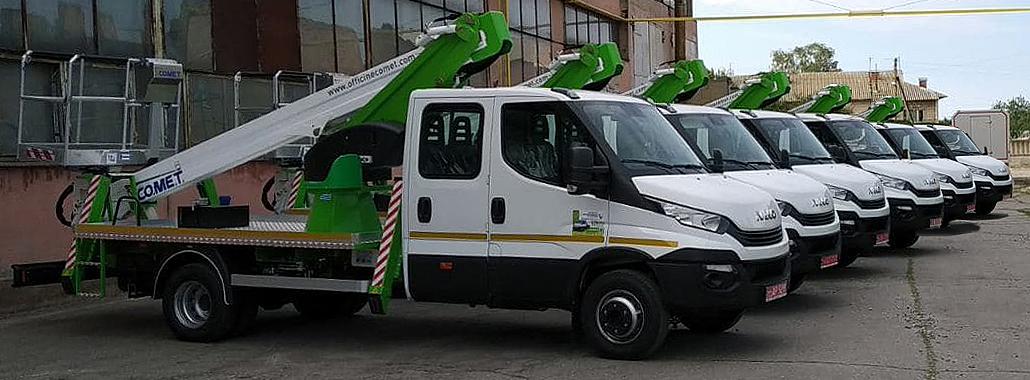 автогидроподъемники Comet 18 м на базе IVECO Daily Dual Cab