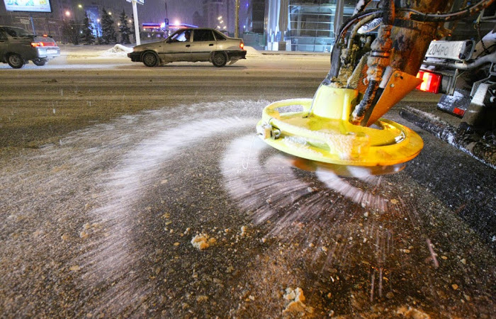 Уборка снега и льда в Норвегии