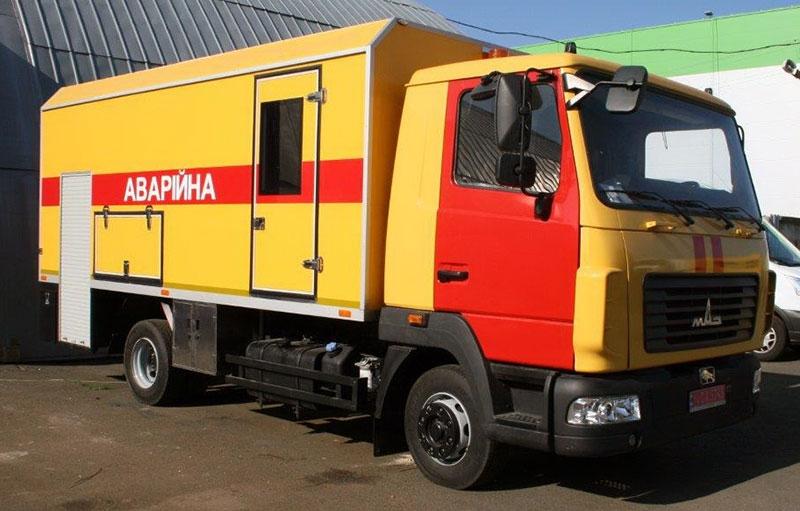 аварийно-ремонтный автомобиль МАЗ