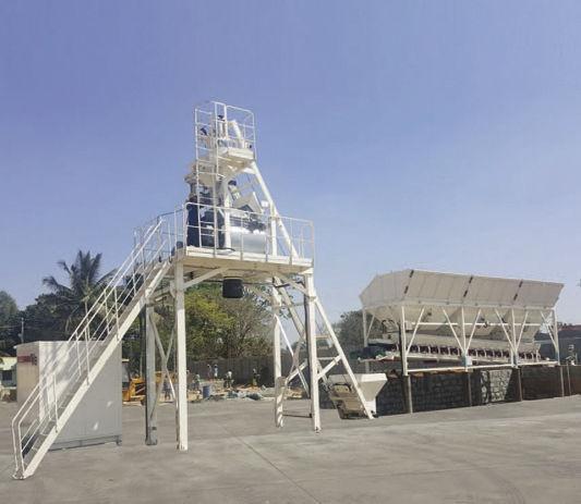 Горизонтальная стационарная бетоносмесительная установка