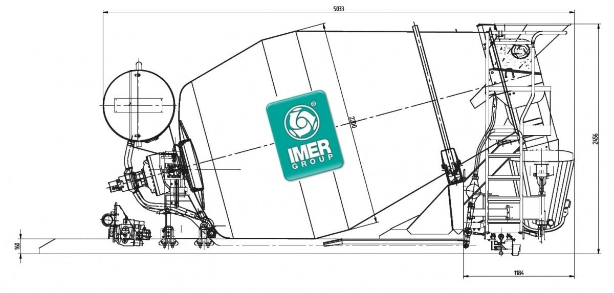 Автобетономешалка Imer Group: смесительный барабан