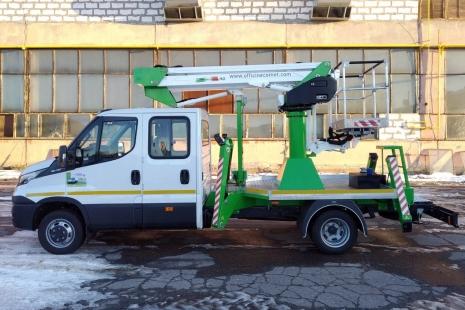 автовышка 14 м на iveco daily dual cab